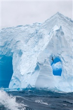 Huge Antarctic sea ice iPhone wallpaper