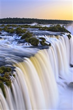 Iguazu waterfall, beautiful sunset iPhone wallpaper