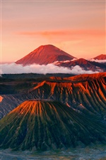 Indonesia, Java, Tenger volcano, mountains landscape iPhone wallpaper