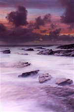 Ireland scenery, west coast, ocean, stones iPhone Wallpaper