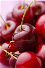 Juicy, delicious fruits, red cherry iPhone wallpaper