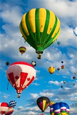 Many hot air balloon iPhone wallpaper