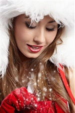 Pure lovely Christmas girl iPhone wallpaper