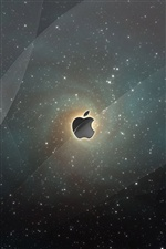 Apple bright stars iPhone wallpaper
