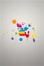 Apple colorful paint iPhone wallpaper