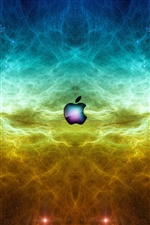 Apple in the space iPhone wallpaper