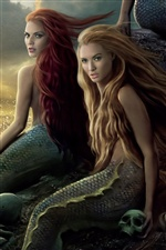Beautiful Mermaid girls in Pirates of the Caribbean iPhone wallpaper