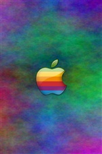 Colorful Apple, abstract background iPhone wallpaper