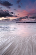 Japan coast scenery, sea, sky, sunset, clouds iPhone wallpaper