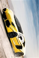 Lamborghini Aventador LP700-4 gold color iPhone wallpaper