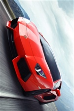 Lamborghini Aventador red supercar iPhone wallpaper