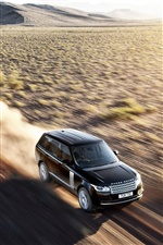 Land Rover car in the desert iPhone wallpaper
