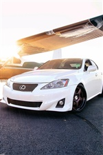Lexus IS white car iPhone wallpaper