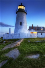 Lighthouse at sunset iPhone wallpaper