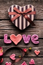 Love, gifts, flowers, ribbons iPhone wallpaper