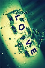 Love in the water creative iPhone Wallpaper
