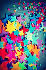 Many colorful five-pointed stars iPhone wallpaper