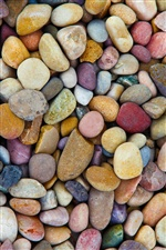 Many stones, colorful pebbles iPhone wallpaper