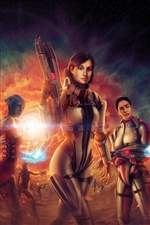 Mass Effect 3 CG girls iPhone wallpaper