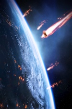 Mass Effect 3, invasion earth iPhone wallpaper