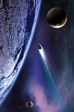 Meteor hit the planet iPhone Wallpaper