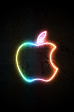 Neon light Apple iPhone wallpaper