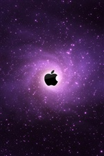 Purple galaxies Apple iPhone wallpaper