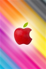 Red Apple, colorful background iPhone wallpaper