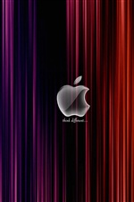 White Apple red and purple background iPhone wallpaper