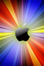 Apple colorful lights background iPhone wallpaper