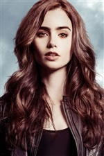 Lily Collins 03 iPhone wallpaper