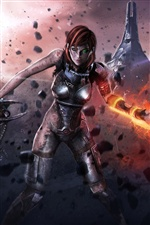 Mass Effect 3, Injured female soldier iPhone wallpaper