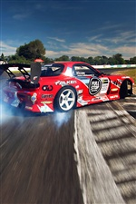 Mazda RX-7 racing drift smoke iPhone wallpaper