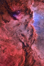 Nebulae, stars, red, beautiful, space iPhone wallpaper