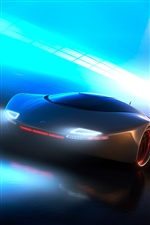 Neon light concept car iPhone wallpaper