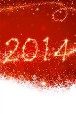 New Year 2014, red style iPhone wallpaper