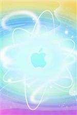 Abstract background blue Apple iPhone wallpaper