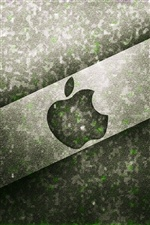 Apple black metal background iPhone wallpaper