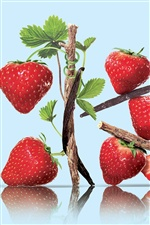 Nutrient rich fruits, strawberry iPhone wallpaper