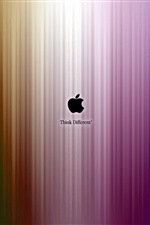 Apple think different, purple stripes iPhone Wallpaper
