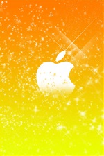 Apple yellow stars background iPhone wallpaper
