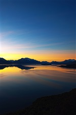 New Zealand nature scenery, sunset, lake, mountain iPhone wallpaper