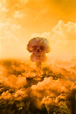 Nuclear explosion mushroom cloud iPhone wallpaper