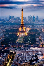 Paris, Eiffel Tower, beautiful city night scenery iPhone wallpaper