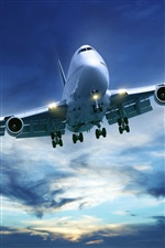 Passenger aircraft Boeing 747 iPhone wallpaper