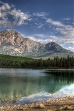 Patricia Lake, Jasper, Canada iPhone wallpaper