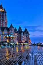 Quebec City, Canada, Chateau Frontenac castle, evening iPhone wallpaper
