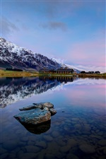 Queenstown, New Zealand, Lake Wakatipu, mountains, water reflection iPhone wallpaper