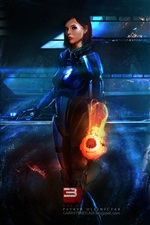 RPG game Mass Effect 3 iPhone wallpaper