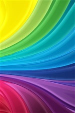 Rainbow stripes abstract wave iPhone wallpaper